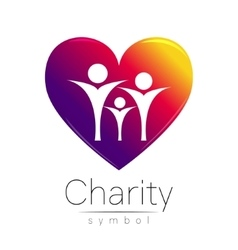 Symbol of charitysign people vector