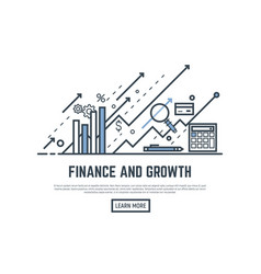 Finance growth banner vector