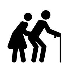 senior couple vector image