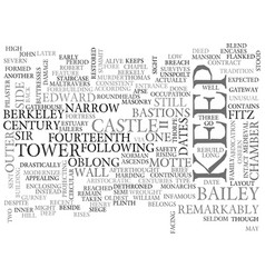 Berkeley castle text word cloud concept vector