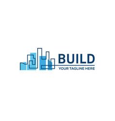 Building constructionreal estate business sign vector