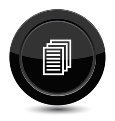Button with document sign vector