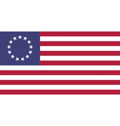 USA Betsy Ross Flat vector image