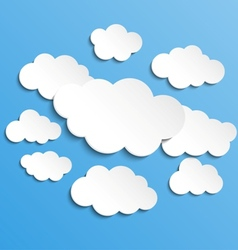 Cloudscape background vector