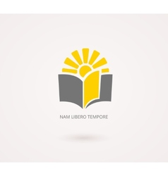 Education concepts yellow and gray knowledge icon vector