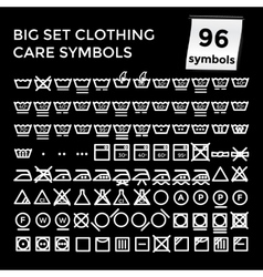 Set clothing care symbols on vector