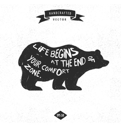 Inspiration quote hipster design label - bear vector