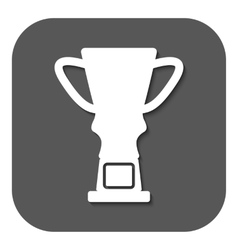 The trophy cup icon champion symbol flat vector