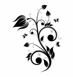 Flower scroll vector