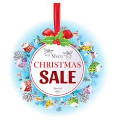 Sale christmas banner vector