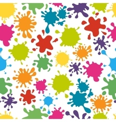 Paint splats pattern vector image