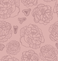 Spring rampage seamless pattern vector