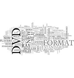 A new dvd format war text word cloud concept vector