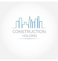 Abstract construction of house Easy to change vector image