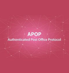 apop authenticated post office protocol text vector image vector image