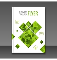 Business report design flyer template background vector image vector image