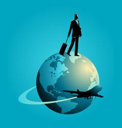 Business trip concept vector