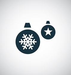 Christmas Decorations icon vector image