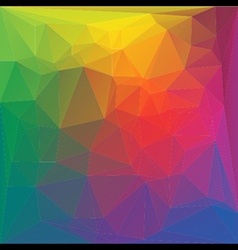 colorful random crystal background vector image