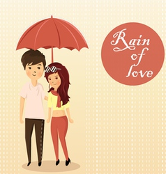 couples rain vector image vector image