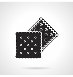 Crunchy crackers black icon vector image vector image