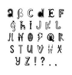 Decor alphabet vector