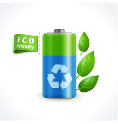 Ecology symbol battery vector image vector image