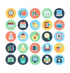 Finance Flat Icons 4 vector image