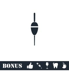 Fishing float icon flat vector image vector image