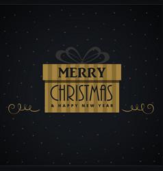 Gift box for christmas festival design vector