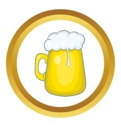 Glass mug of beer icon vector