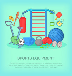 Gym equipment concept cartoon style vector