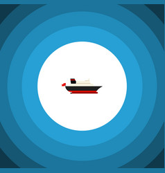 isolated transport icon flat cargo element vector image vector image