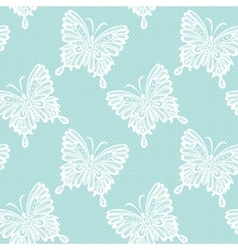 Lace with butterflies vector image vector image