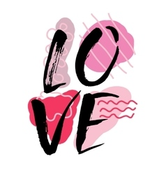 Love watercolor hand lettering modern brush vector