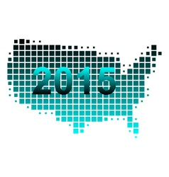 Map of usa 2015 vector