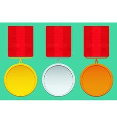 Medal set vector