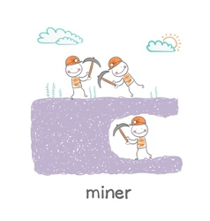 Miner looking minetaly vector