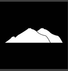 Mountain white color icon vector