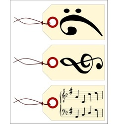 Music tags vector