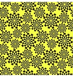 Pattern of black stylized gears vector image vector image