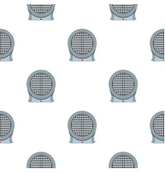 Portable electric heater pattern seamless vector