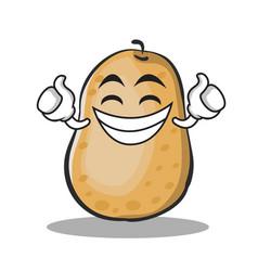 Proud potato character cartoon style vector