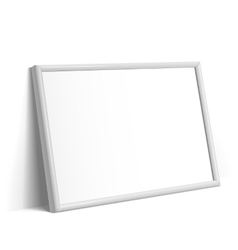 Realistic White horizontal frame for paintings vector image vector image
