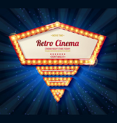 retro light frame vector image