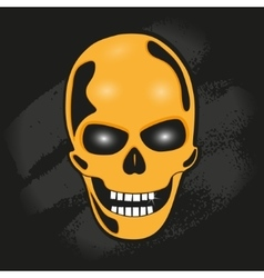 The skull against the wall vector
