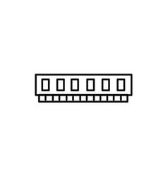 virtual memory icon vector image vector image