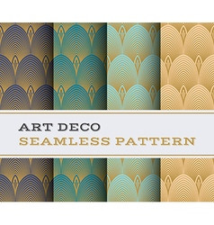 Art deco seamless pattern 14 vector