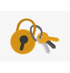 Safety lock and keys system security design vector