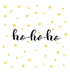 Ho-ho-ho brush lettering vector